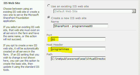 how to create a dns entry for the web server