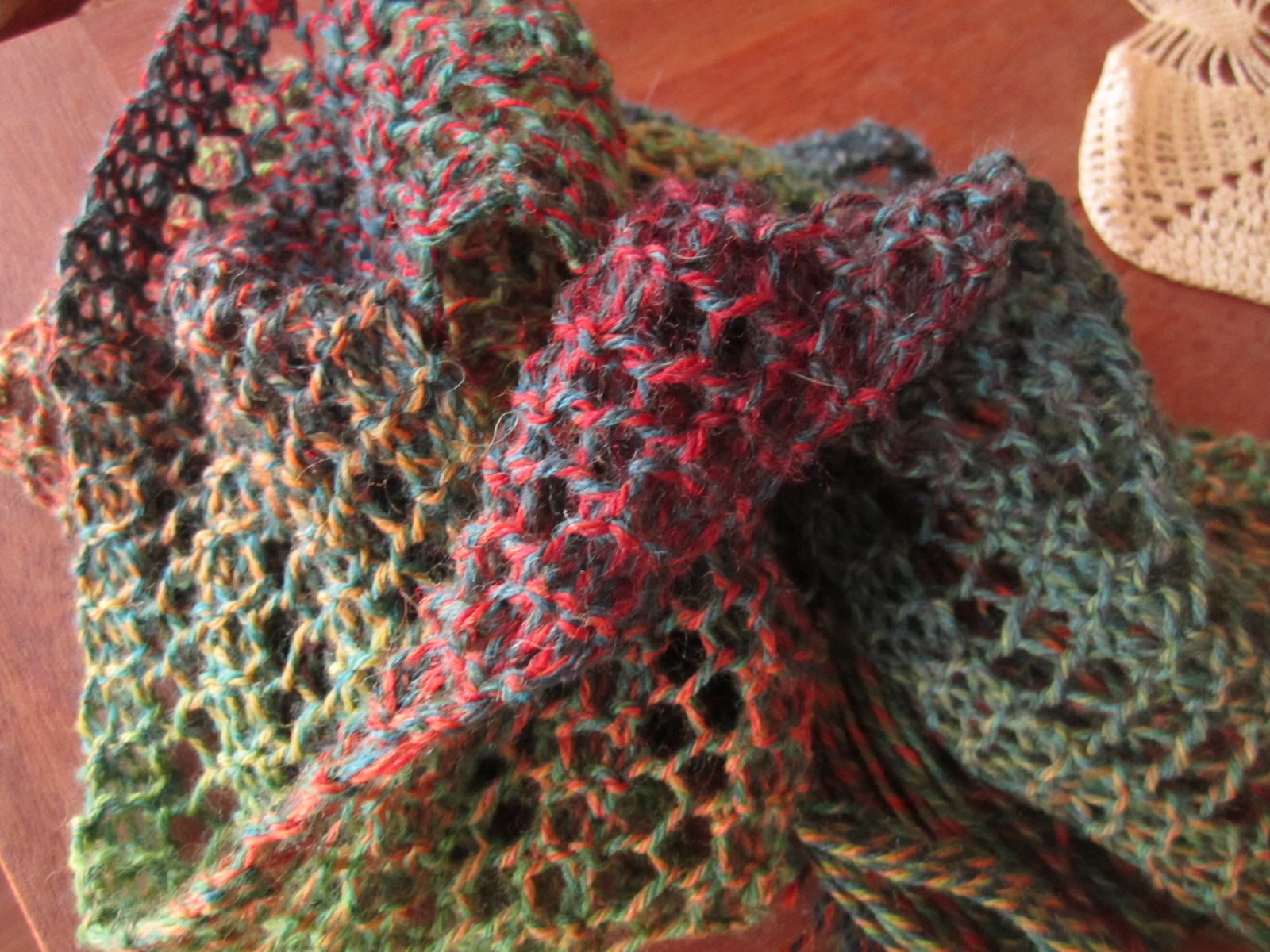 One Womans Hands One Row Lace Scarf