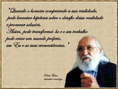 Pensamentos pedagógicos de Paulo Freire