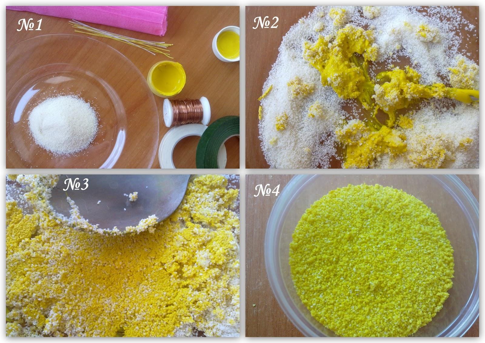 Как сделать тычинки из манки для цветов