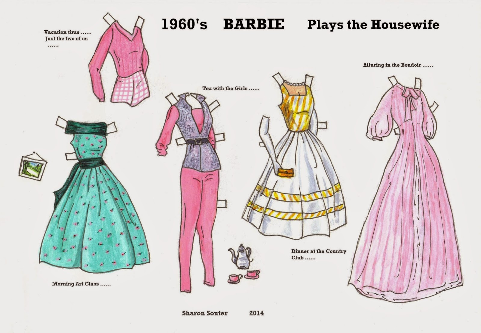 Barbie A Fashion Fairytale Dresses Sketches I chose Barbie from the 1960 s