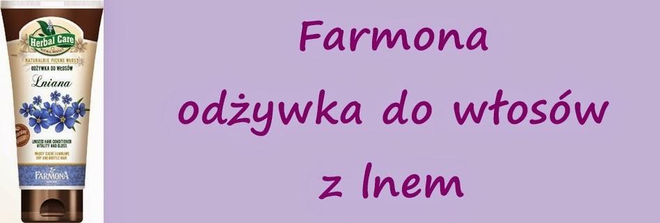 Odżywka Farmony z lnem -  moje włosy kochają także i len :)