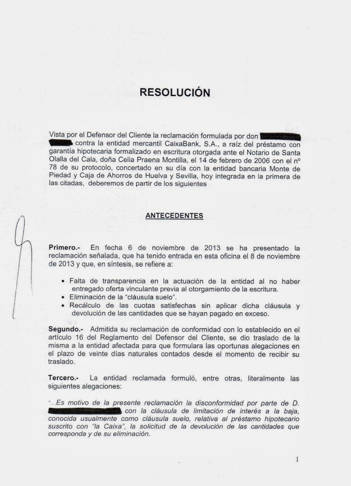 El blog de legalcores enero 2014 for Resolucion clausula suelo