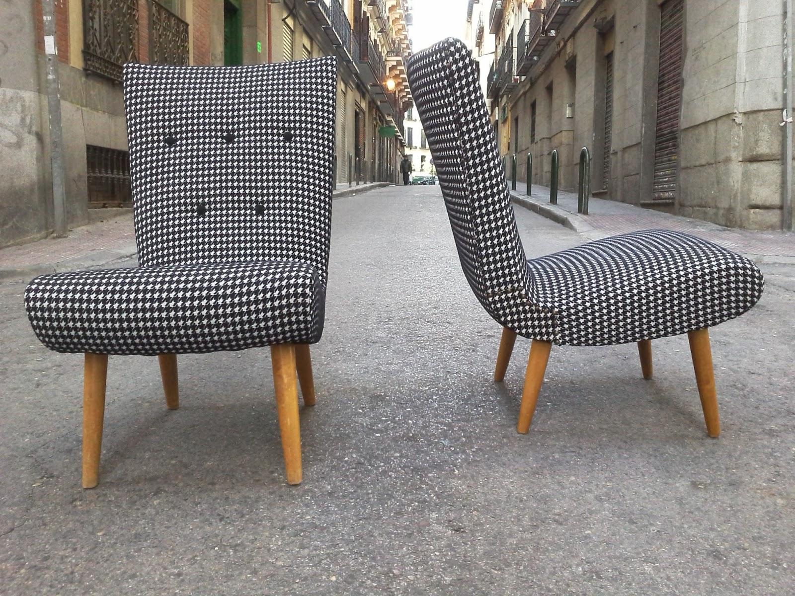 La tapicera butacas suecas tapizadas en pata de gallo - Telas de tapizado ...