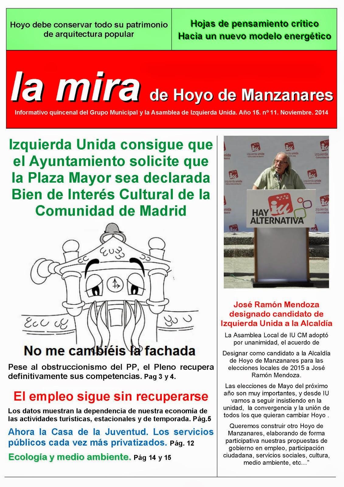 La mira de Hoyo de Manzanares Noviembre 2014