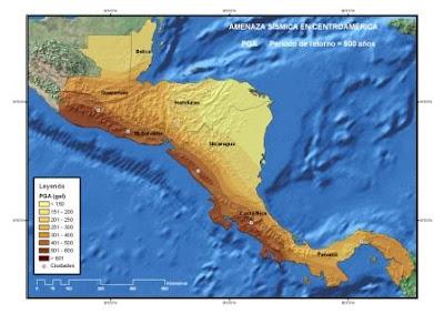 Alerta sísmica Centroamérica