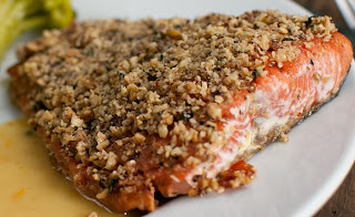 Stained 1054 Bistro Specials: Hazelnut Crusted Fresh Canadian Salmon
