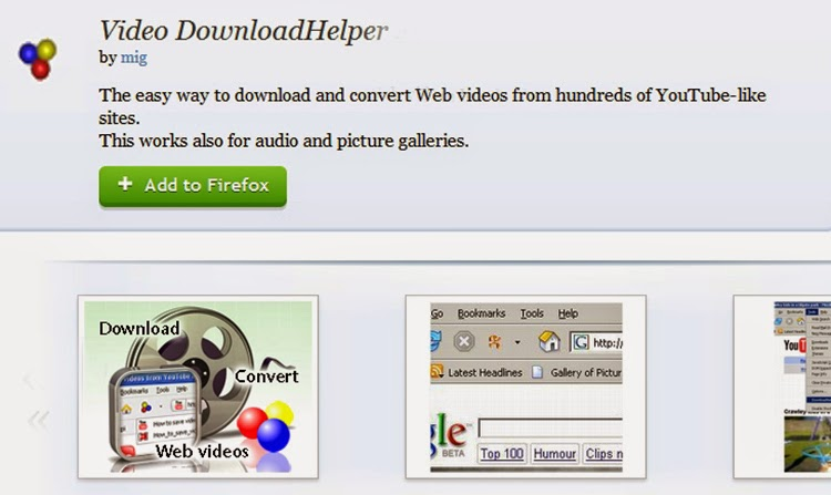 DownloadHelper - Firefox extension