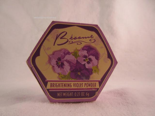 Besame Brightening Violet Powder  Box