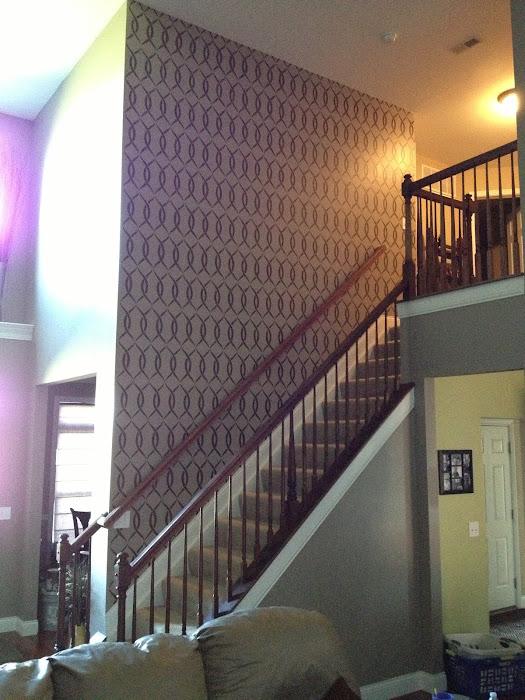 Jen's Stenciled Stairway