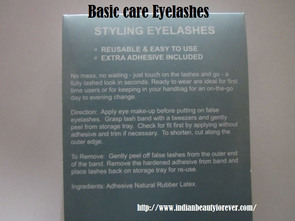 Basic care False Eye Lashes review and EOTD