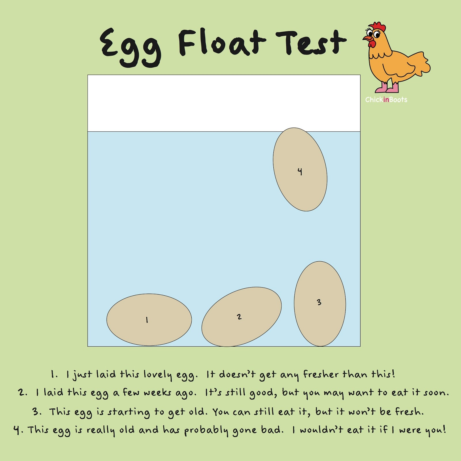 how to tell if eggs are still good float test