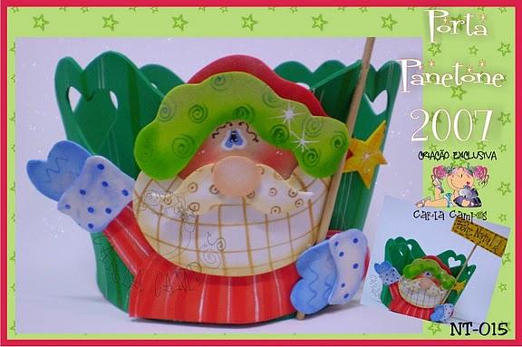 Centros De Mesa Navidad Papa Noel Con