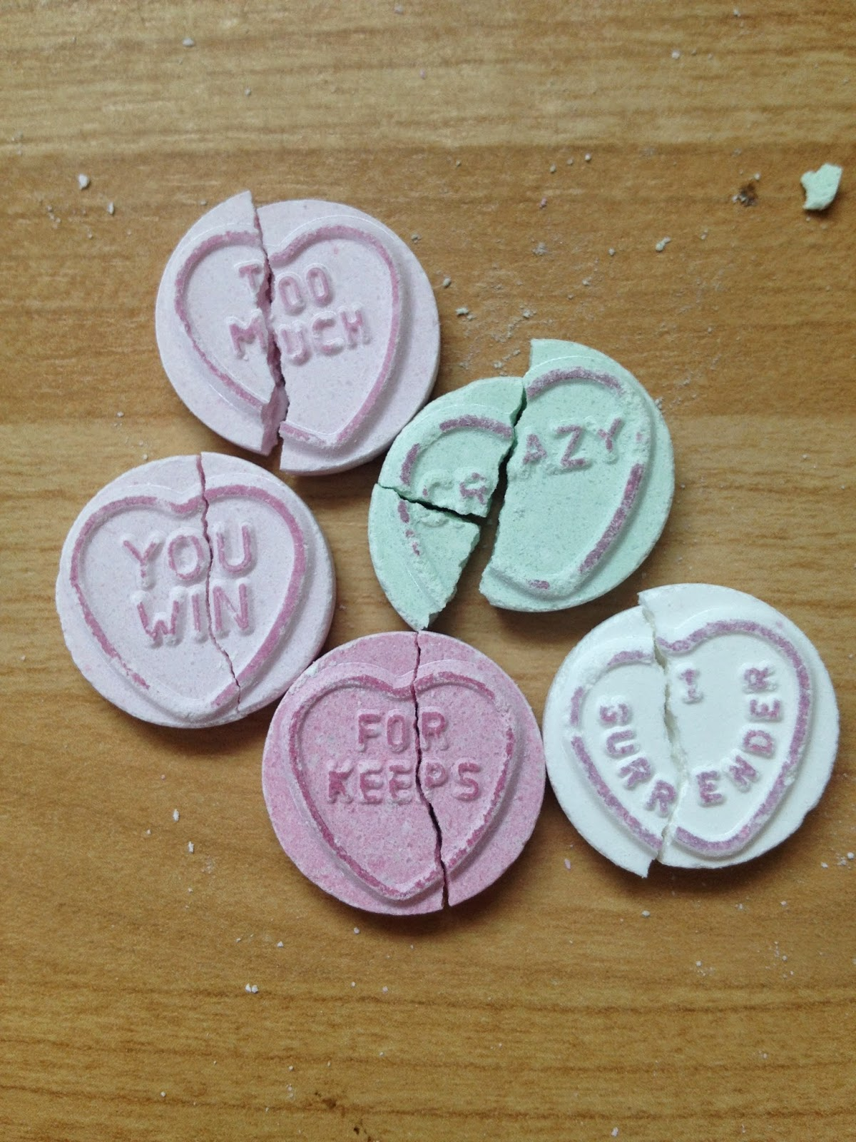 Broken Love Hearts representing domestic abuse