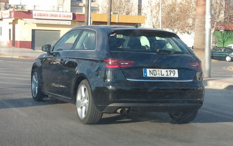 audi newz spyshot audi a3 2012 3 portes shop. Black Bedroom Furniture Sets. Home Design Ideas