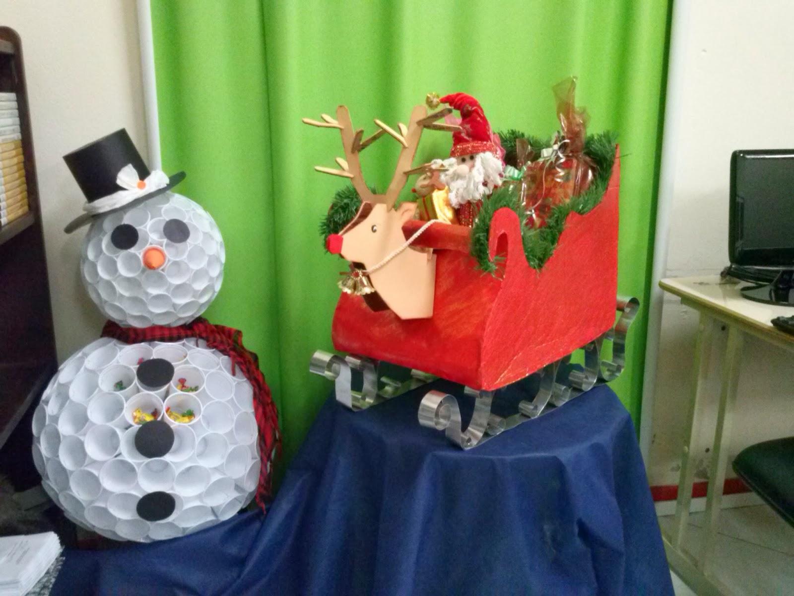 E E B MANOEL VICENTE GOMES Decoraç u00e3o de natal na escola -> Decoração De Natal Simples Escola