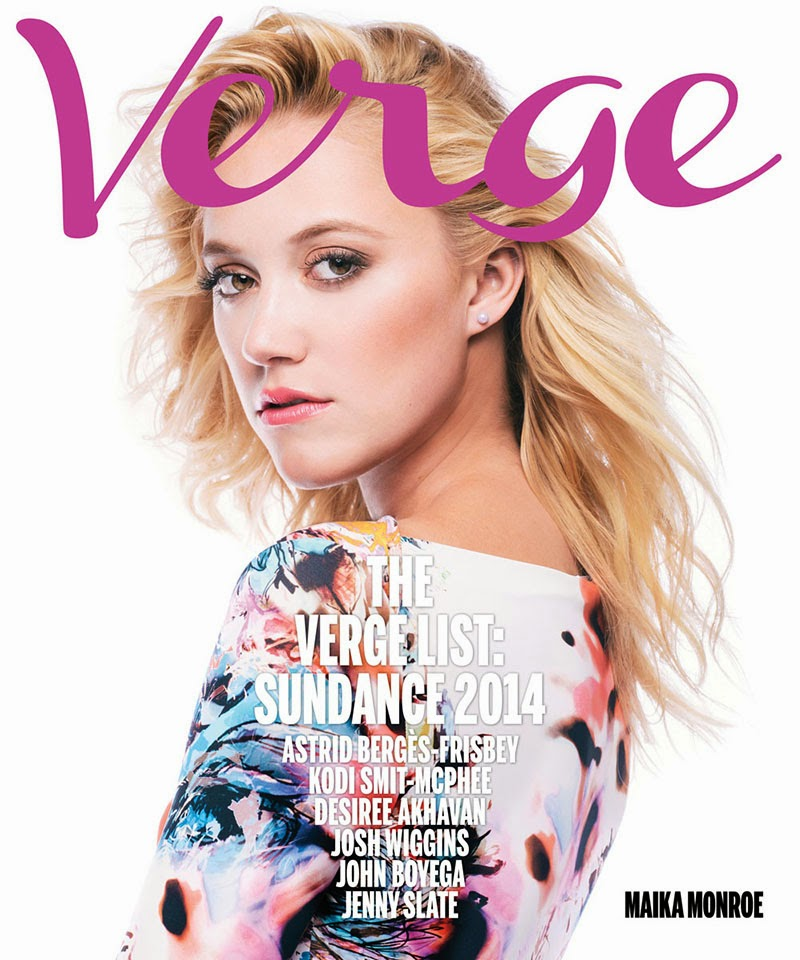Magazine Photoshoot : Maika Monroe Photoshot For Verge Magazine Sundance Film Festival edition 2014 Issue