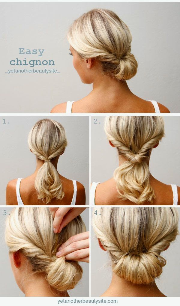 How to do a low chignon hairsytle