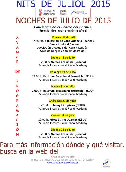 MÚSICA EN EL CARMEN (VALENCIA(