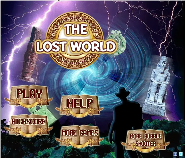The Lost World Bubble Shooter-Game Permainan Online