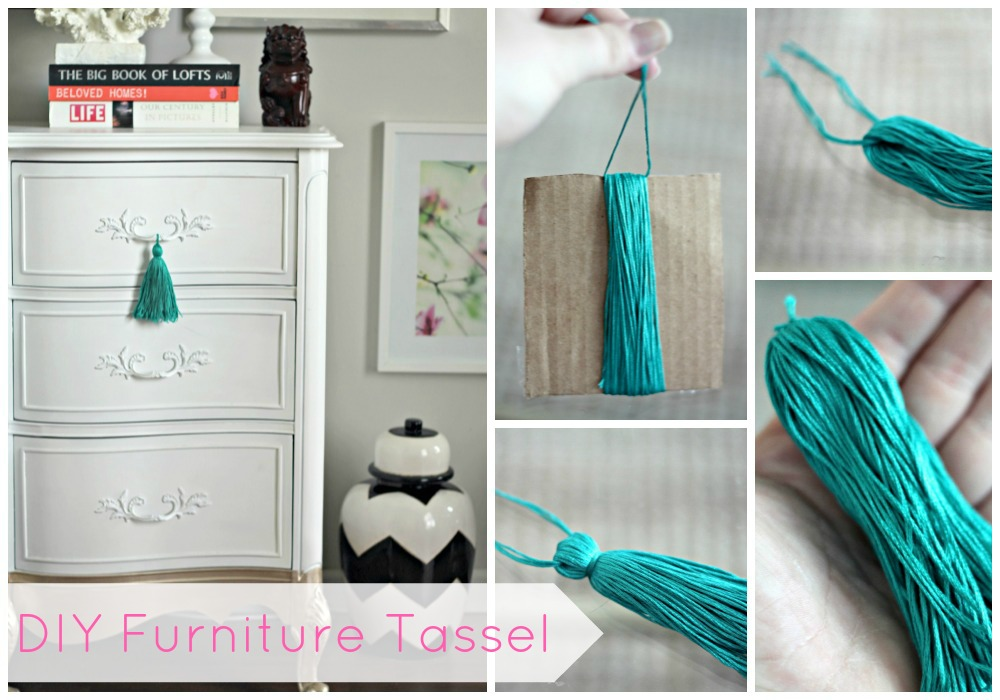 Merveilleux ... What I Thought It Would Be, I Love The End Result And The Pop Of Color  On My White TV Console. So Without Further Ado, Here Is My DIY Furniture  Tassel!