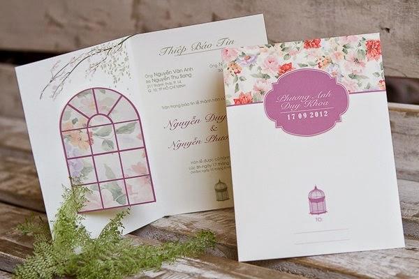 Thiệp cưới đẹp với phong cách Vintage nhẹ nhàng 5
