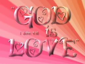 God Is  Love Christian Wallpaper