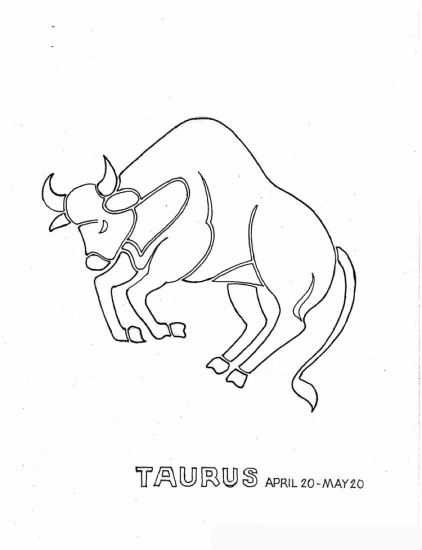 Taurus Zodiac Coloring Pages Picture Ideas Cartoon Zodiac Coloring Pages