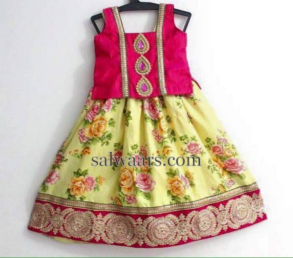 Floral Lehenga in Lemon Yellow