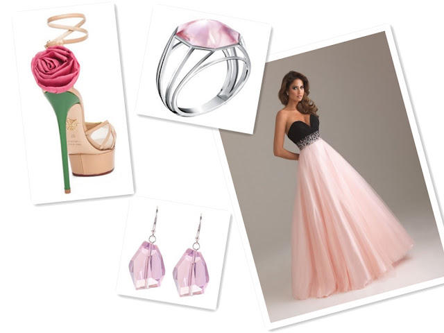 Sweetheart Pink Ball Gown Long Prom Dress