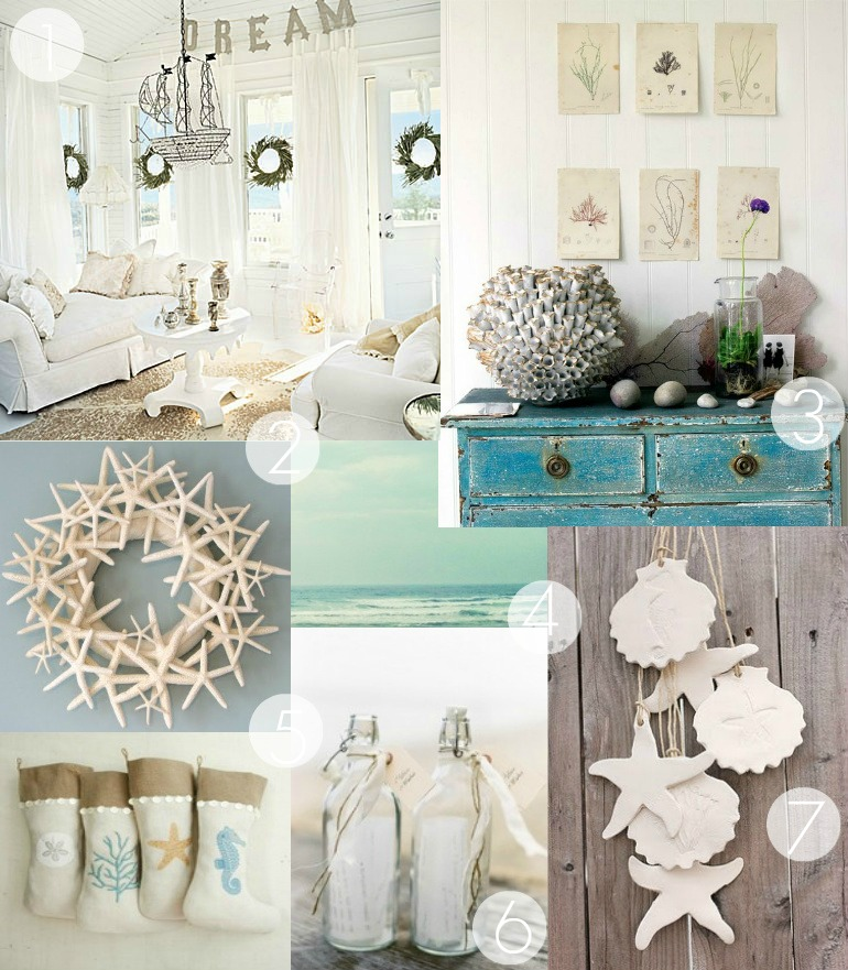 Forever lovely design a coastal christmas for Beach house decorating ideas photos