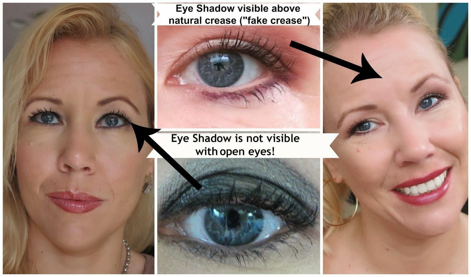 8 tips how to apply eyeshadow on hooded eyes beauty4free2u left eye shadow not visible right eye shadow visible on fake crease ccuart Gallery