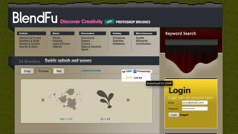 BlendFu: Kumpulan Brush untuk GIMP dan Photoshop