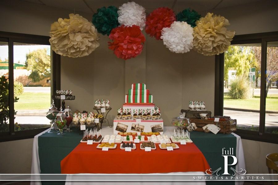 Decoracion Italiana Para Fiestas ~ Los detalles, postales de Italia, pompones y las Valijas para darle un