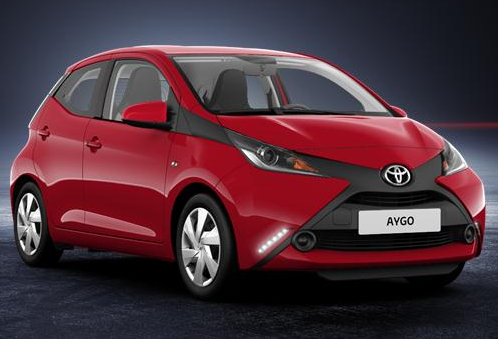 photo toyota aygo rouge
