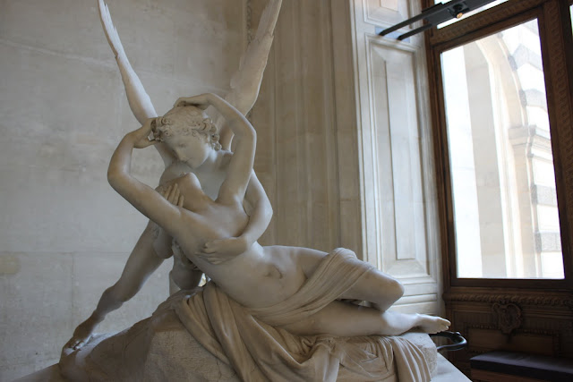 Psyche and Cupid in Lourve Museum in Paris, France