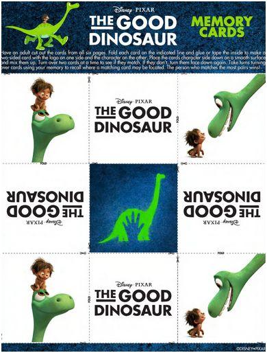 good dinosaur memory cards