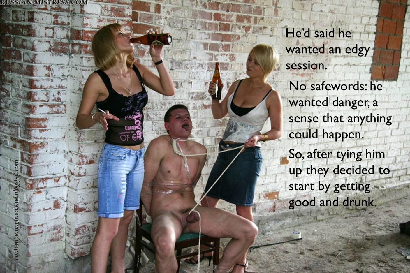 Drunken femdom, oh dear