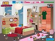 chơi game dọn dẹp phòng ngủ