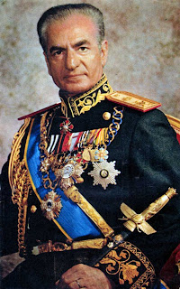The Shah of Iran, Mohammed Reza Pahlavi, in one of his triumphal uniforms