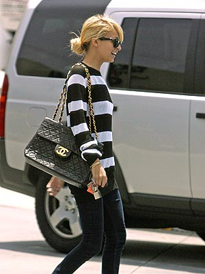 I Especially Love How It Looks Worn Everyday With A Basic Black And White Striped Tee Jeans La Nicole Richie