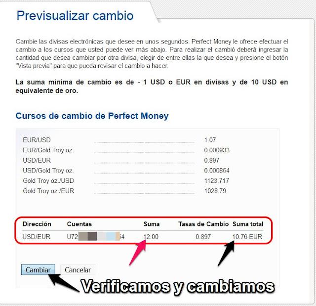 ¿Cómo enviar dinero desde PayPal a tu cuenta PerfectMoney?