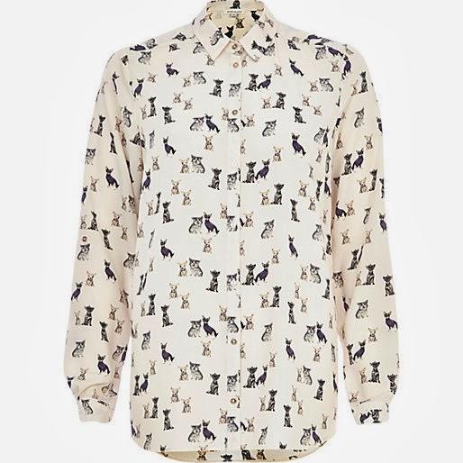 dog print shirt