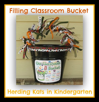 photo of: Filling Our Classroom Bucket from Herding Kats in Kindergarten (via Kindness RoundUP with RainbowsWithinReach)