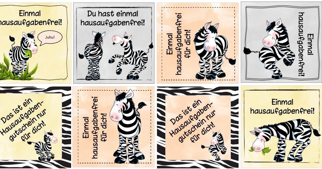ideenreise hausigutscheine mit zebras