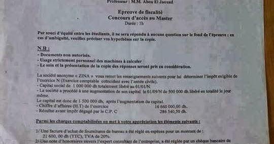 epreuve  master audit  contr u00f4le de gestion et syst u00e8mes d
