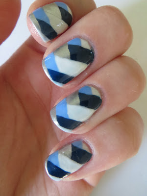 Barry M Fishtail nail art