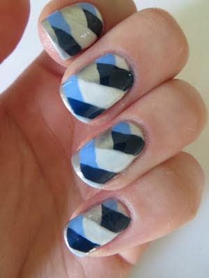 Barry M Fishtail nail art