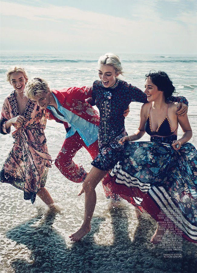 Lucky Blue Smith for Marie Claire January 2016