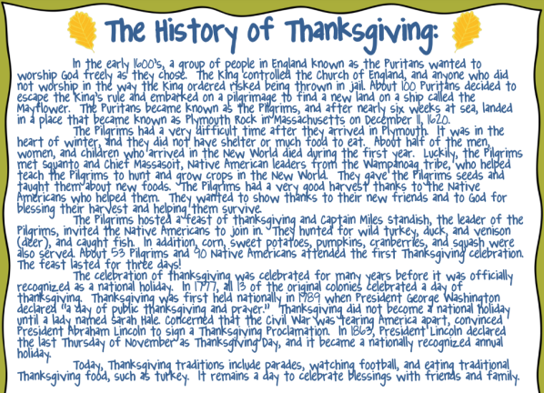 history of the first thanksgiving But how much of the conventional thanksgiving story is true join sarah and  katie as they take a closer look at the first thanksgiving.
